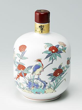 有田焼色絵花鳥文瓶